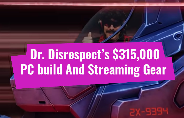 Dr. Disrespect's $315,000 PC Build And Streaming Gear